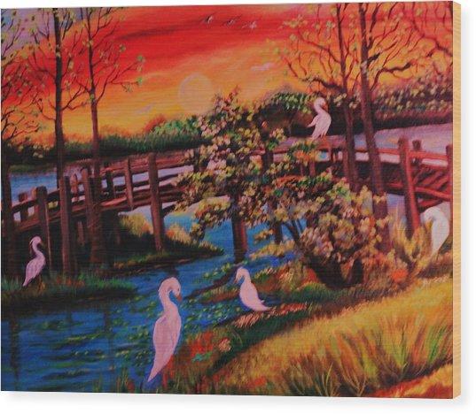 Spring In Lutz Florida Wood Print