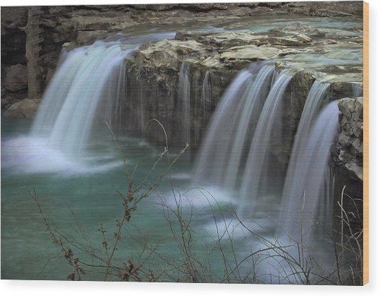Spring King River Arkansas Wood Print by Cindy Rubin
