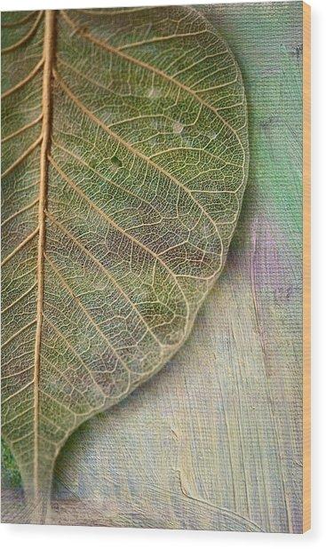 Spring Leaf Wood Print