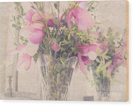 Spring Magnolias Wood Print