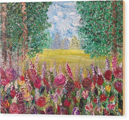 Spring Meadows Wood Print by Janie Kraemer