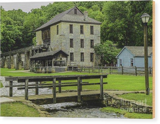 Spring Mill Wood Print