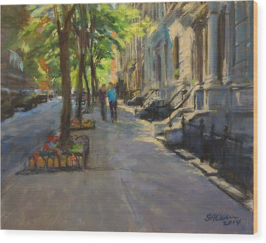 Spring Morning On West 85th Street Wood Print