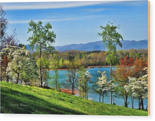 Spring On The Lake Wood Print