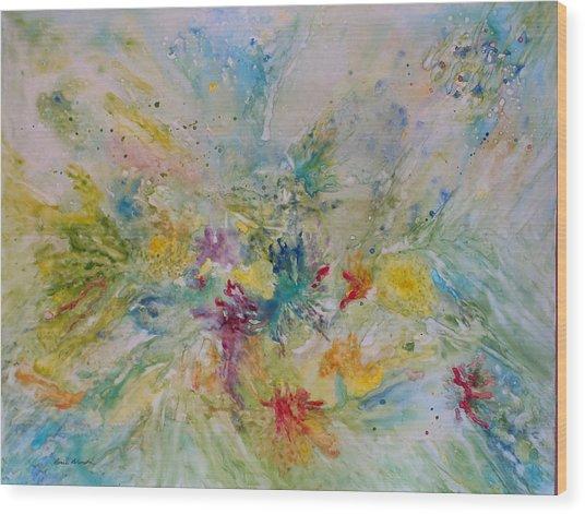 Spring Rain Wood Print by Rosie Brown