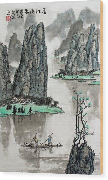 Spring River Wood Print