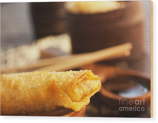 Spring Roll Wood Print by Mythja  Photography