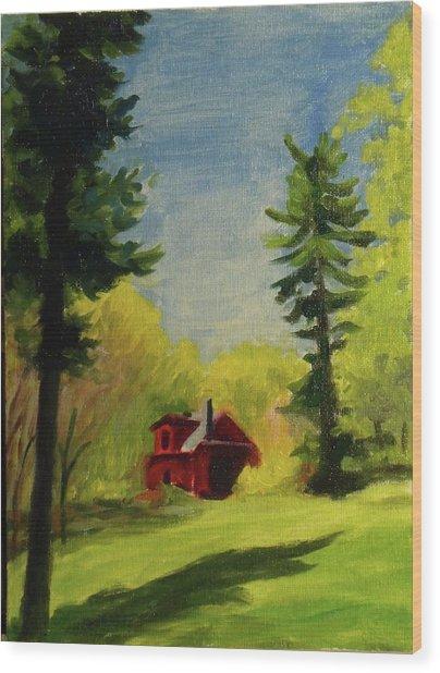 Spring Stony Point Park Wood Print