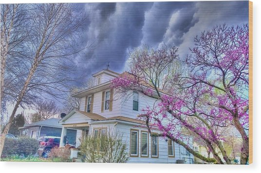 Spring Storm Wood Print by Larry Bodinson