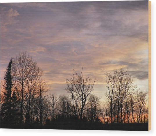Spring Sun Sets Wood Print