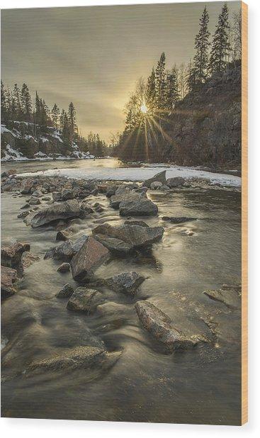 Spring Sunset Wood Print