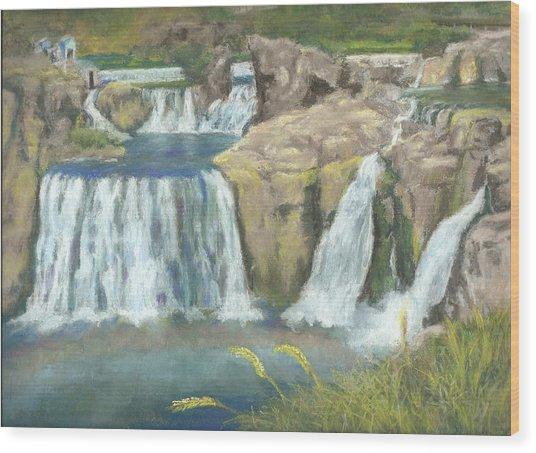 Spring Thaw At Shoshone Falls Wood Print