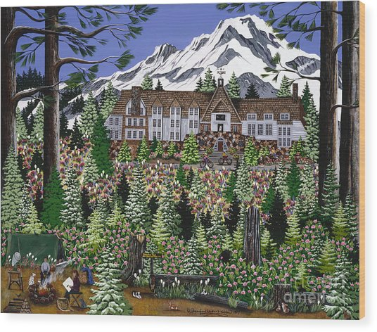 Spring Time Timberline Wood Print