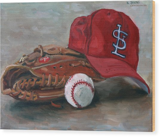 Spring Training  Wood Print by Nora Sallows