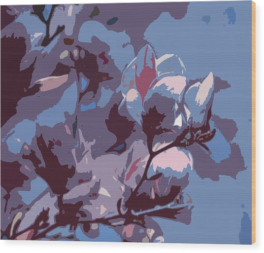Spring Tulip Tree Abstract Wood Print