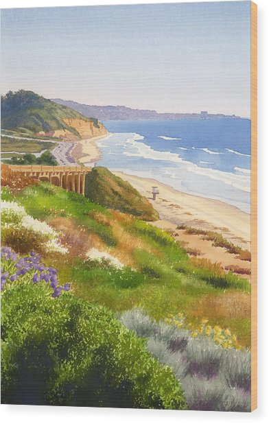 Spring View Of Torrey Pines Wood Print
