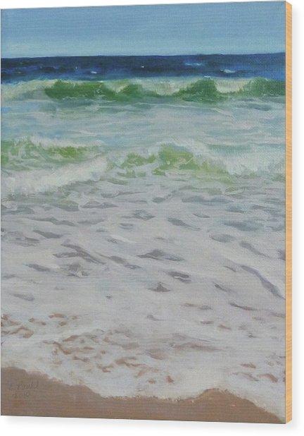 Spring Wave Wood Print