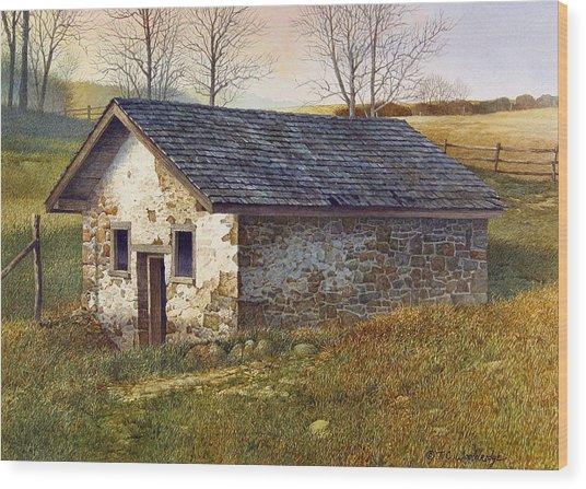 Springhouse Wood Print