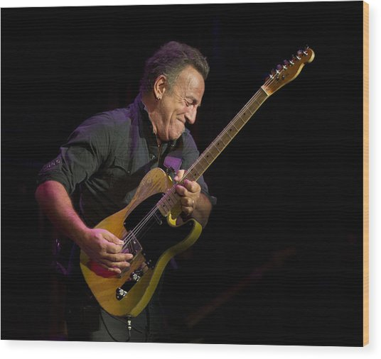 Springsteen Shreds Wood Print