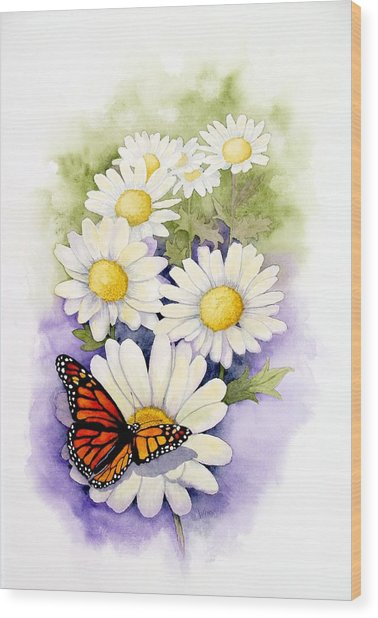 Springtime Daisies  Wood Print
