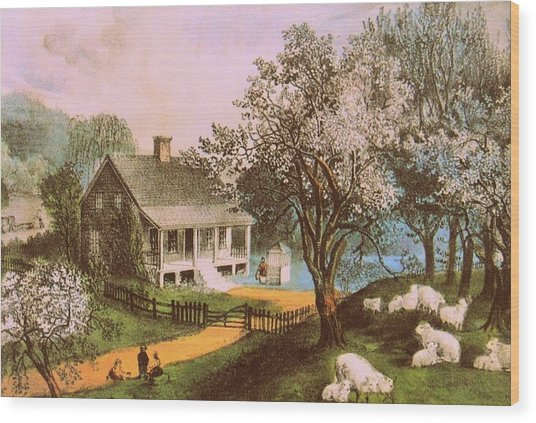 Springtime In New England Wood Print by JAMART Photography