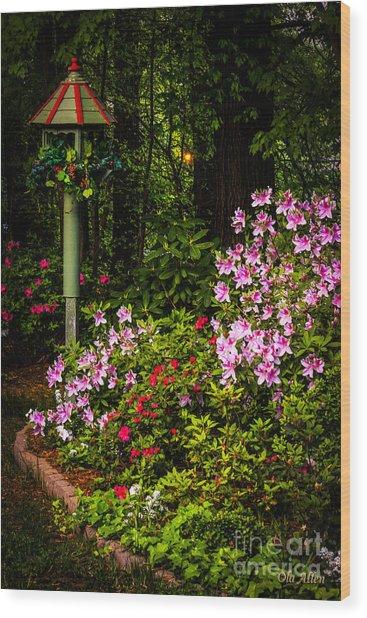 Springtime In The Garden  Wood Print