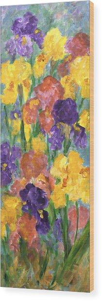 Springtime Iris Wood Print