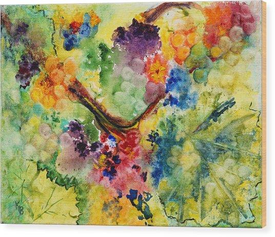 Wood Print featuring the painting Springtime by Karen Fleschler