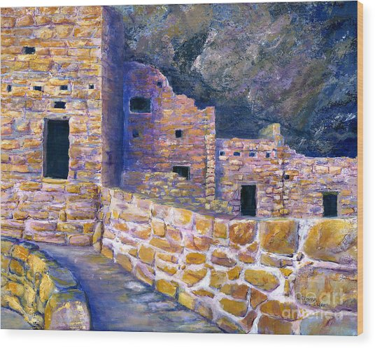 Spruce House At Mesa Verde In Colorado Wood Print