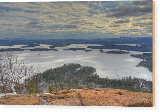 Squam Lake In February Wood Print