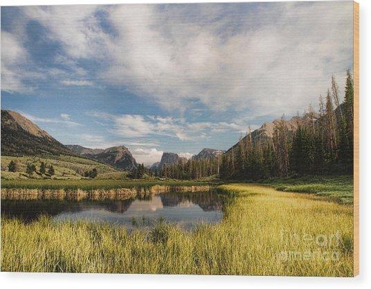 Square To At Green River Wood Print