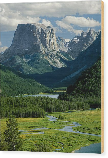 Squaretop Mountain 3 Wood Print