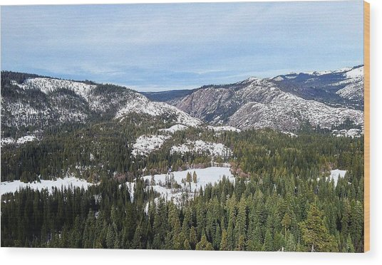 Squaw Valley Wood Print by Phil Gorham