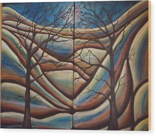 Squaw Valley Views Wood Print