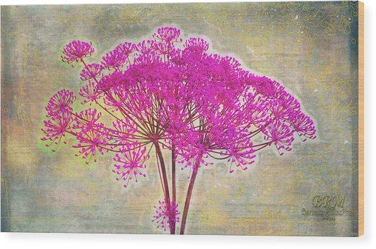 Squiggle Fun Pinked Wood Print