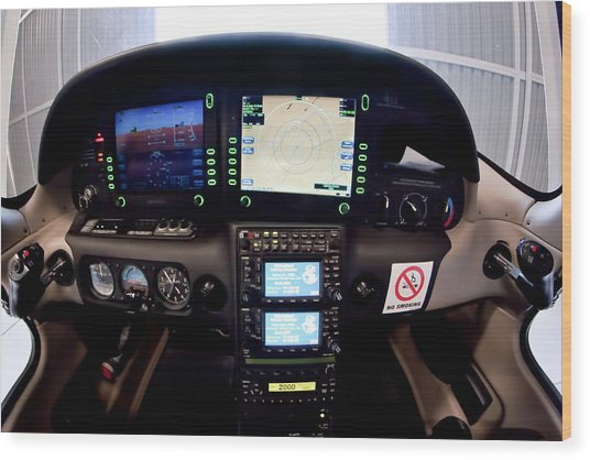 Sr22 Cockpit Wood Print