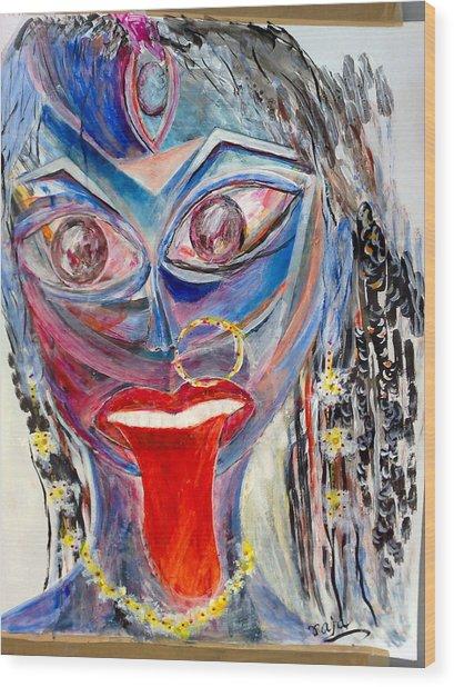 Sreema  Kali Ma Wood Print
