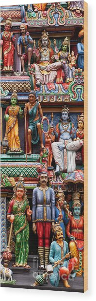 Sri Mariamman Temple 03 Wood Print