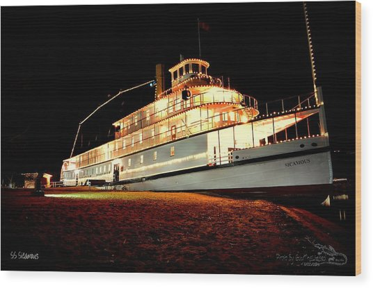 Ss Sicamous Frontview 1/21/2014  Wood Print