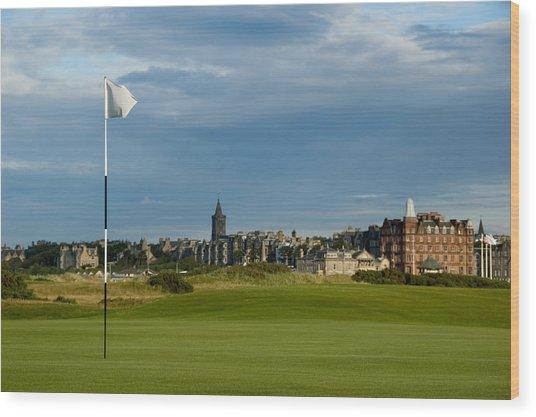 St Andrews Golf Wood Print