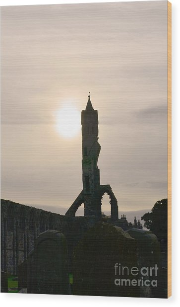 St Andrews Scotland At Dusk Wood Print