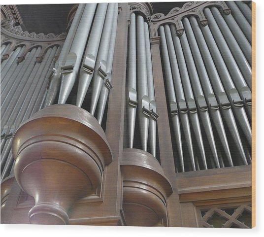 St Augustin Organ Wood Print