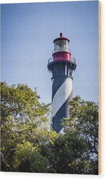 St. Augustine Lighthouse Wood Print