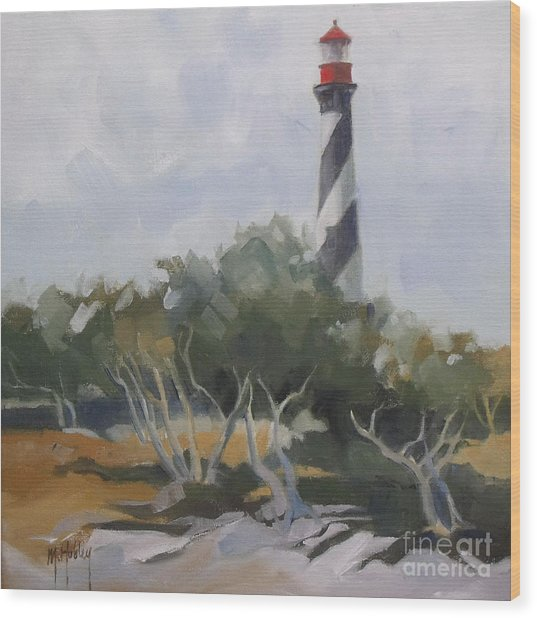 St Augustine Lighthouse First Light Wood Print