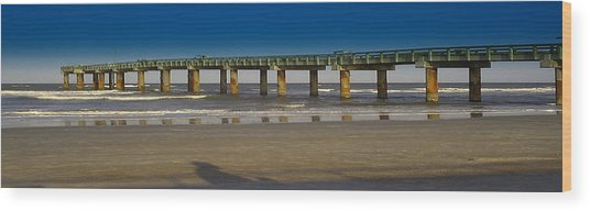 St. Augustine Pier Wood Print by Donnell Carr