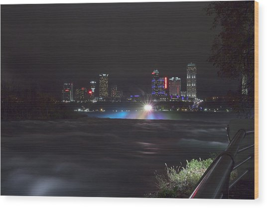 Wood Print featuring the photograph St Catherines Skyline by Chris Babcock