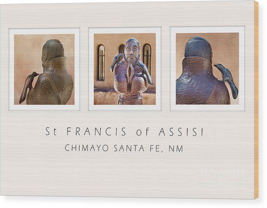 St Francis 360 Wood Print