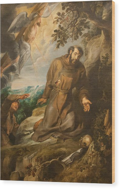 St. Francis Of Assisi Receiving The Stigmata Wood Print