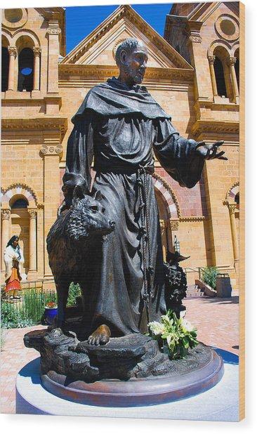 St Francis Of Assisi - Santa Fe Wood Print