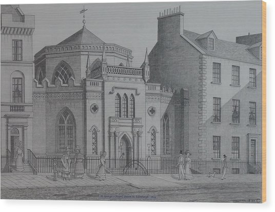 St Georges Chapel Edinburgh Wood Print